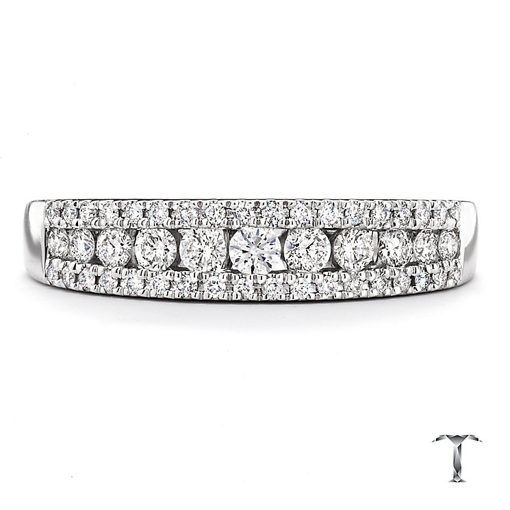 Tolkowsky 18ct white gold 0.36ct I-I1 diamond ring - Product number 2295393
