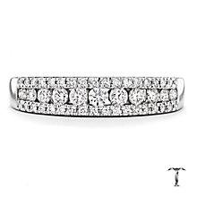 Tolkowsky 18ct white gold 0.36ct I-I1 diamond ring - Product number 2295393