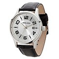 Jorg Gray Men's Stainless Steel Black Leather Strap Watch - Product number 2295660