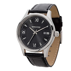 Jorg Gray Men's Black Dial & Black Leather Strap Watch - Product number 2295695