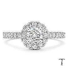Tolkowsky 18ct White Gold 1ct I-I1 Diamond Halo Ring - Product number 2296349