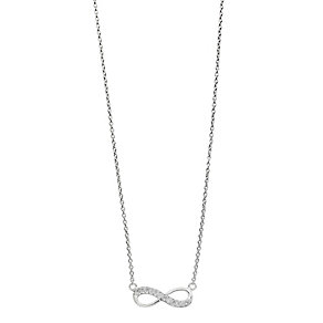 Sterling Silver & Cubic Zirconia Infinity Pendant - Product number 2296802