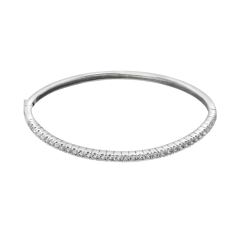 Sterling Silver Cubic Zirconia Bangle - Product number 2296845