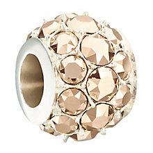 Chamilia Silver & Rose Swarovski Crystal Splendour Bead - Product number 2297175