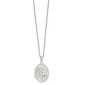 Sterling Silver Oval St Christopher Locket - Product number 2297523