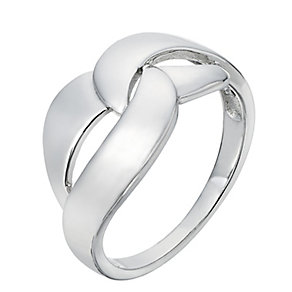 Sterling Silver Interlinking Crossover Ring - Product number 2298198