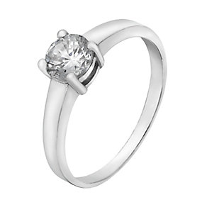 Sterling Silver & Cubic Zirconia Solitaire Ring - Product number 2298287