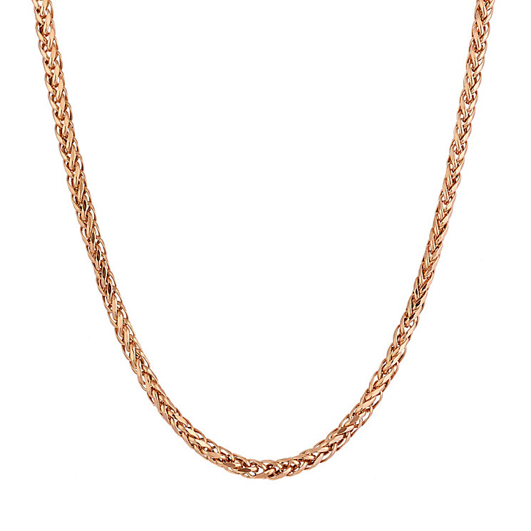 "9ct Rose Gold Spiga Chain 18"" - Product number 2300907"