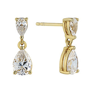 Lumiere 18ct Gold Plate Swarovski Elements Drop Earrings - Product number 2301105