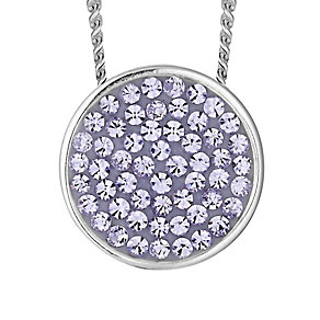 Evoke Silver & Purple Swarovski Elements Round Pendant - Product number 2301121