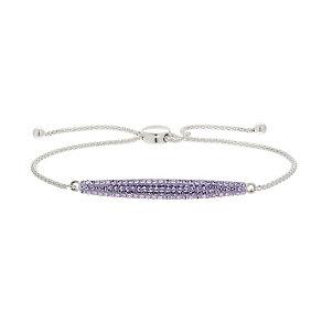 Evoke Silver & Purple Swarovski Element Friendship Bracelet - Product number 2301164
