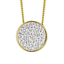 Evoke Yellow Gold Plated Swarovski Elements Round Pendant - Product number 2301172