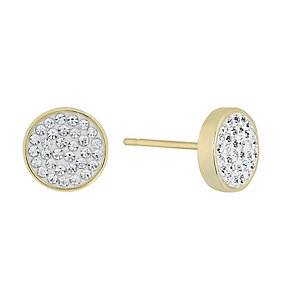 Evoke Yellow Gold Plated Swarovski Elements Stud Earrings - Product number 2301180