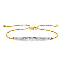 Evoke Gold Plated Swarovski Elements Friendship Bracelet - Product number 2301202