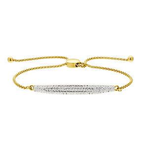 Evoke Gold Plated Swarovski Elements Friendship Bracelet - Product number 2301202
