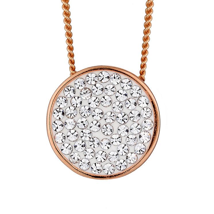 Evoke Rose Gold Plated Swarovski Elements Round Pendant - Product number 2301210