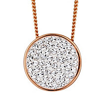 Evoke Rose Gold Plated Swarovski Elements Round Pendant - Product number 2301210