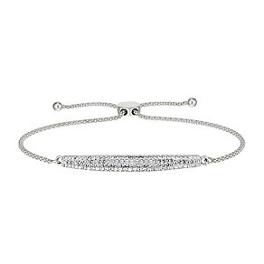 Evoke Rhodium Plated Swarovski Elements Friendship Bracelet - Product number 2301296