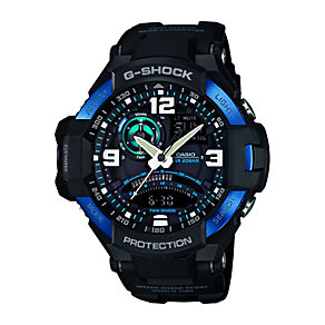 G-Shock Men's Gravity Defier Black & Blue Resin Watch - Product number 2302136