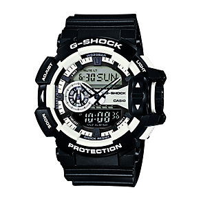 G-Shock Men's Rotary Switch Black & White Resin Watch - Product number 2302144
