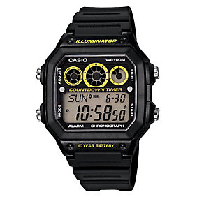 Casio Men's Black Resin Digital Sports Watch - Product number 2302373