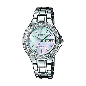 Casio Sheen Ladies' Mother Of Pearl Stainless Steel Watch - Product number 2302438