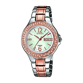 Casio Sheen Ladies' Mother Of Pearl Two Colour Watch - Product number 2302454