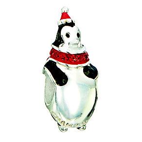 Chamilia silver, black enamel & siam stone set Penguin bead - Product number 2302985