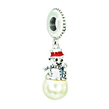 Chamilia sterling silver & white pearl Snowman charm bead - Product number 2303019