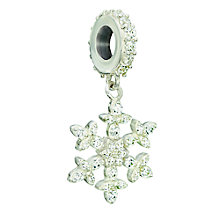 Chamilia silver & Swarovski cubic zirconia Snowflake charm - Product number 2303035