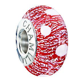Chamilia polka dot murano glass Santa's Helper bead - Product number 2303043