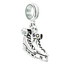 Chamilia sterling silver & crystal Skates bead - Product number 2303086