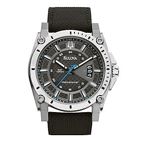 Bulova Men's Precisionist Black Kevlar Strap Watch - Product number 2303221