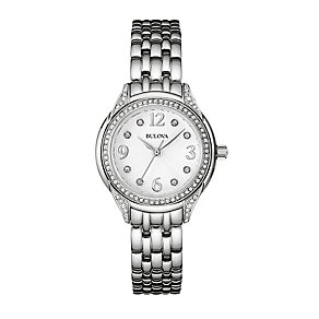 Bulova Ladies' Stone Set Stainless Steel Bracelet Watch - Product number 2303248