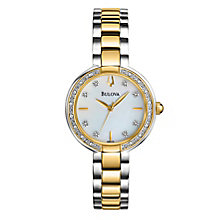 Bulova Ladies' Diamond Set Two Tone Bracelet Strap Watch - Product number 2303272