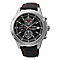 Seiko Men's Stainless Steel & Black Leather Strap Watch - Product number 2303302