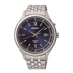 Seiko Men's Blue Dial Stainless Steel Bracelet Watch - Product number 2303337