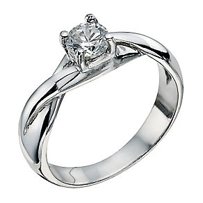 Sterling Silver 4 Claw Cubic Zirconia Ring - Product number 2303515