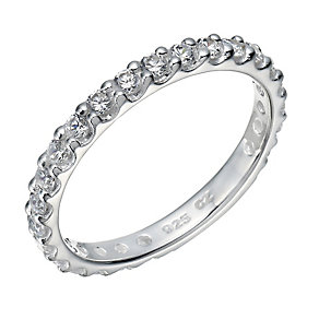 Sterling Silver Cubic Zirconia Claw Set Ring - Product number 2303612