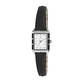 Radley Ladies' Rectangular Black Leather  Strap Watch - Product number 2305496