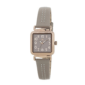 Radley Ladies' Square Rose Gold-Plated Grey Leather  Watch - Product number 2305518