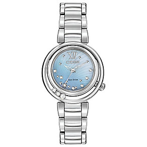Citizen Eco Drive Ladies' Sunrise Diamond Set Watch - Product number 2305534