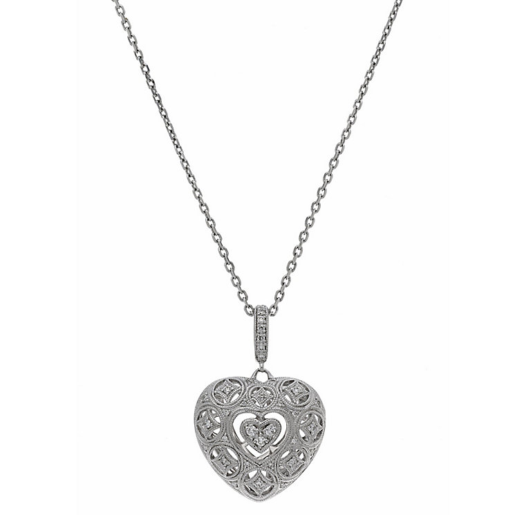 Neil Lane Designs silver 0.20ct diamond heart pendant - Product number 2305623
