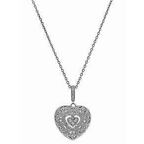 Neil Lane Designs silver 1/5 carat diamond heart pendant - Product number 2305623
