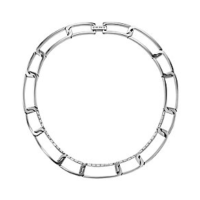 DKNY Geometric Glitz Baguette Cut Crystal Steel Necklace - Product number 2305755