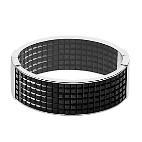 DKNY Stainless Steel Black Crystal Wide Geometric Bracelet - Product number 2305828