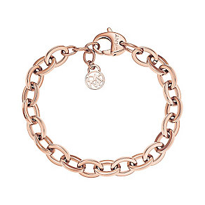 DKNY Rose Gold-Plated Stainless Steel Link Bracelet - Product number 2305852
