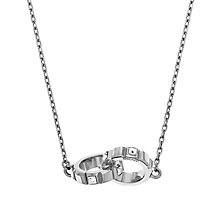 DKNY Stainless Steel Crystal Set Interlocking Rings Necklace - Product number 2305879