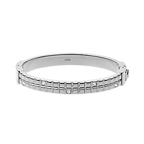 DKNY Stainless Steel Clear Crystal Set Hinged Bangle - Product number 2305887