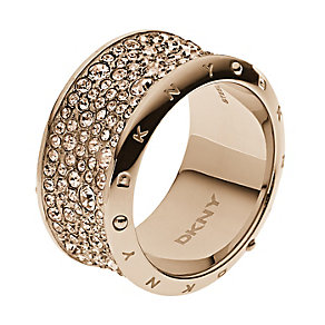 DKNY Rose Gold Tone Crystal Set Ring - Product number 2306263